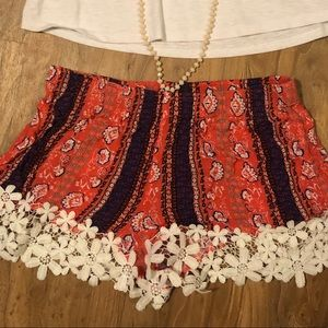 Flower/ Lace shorts